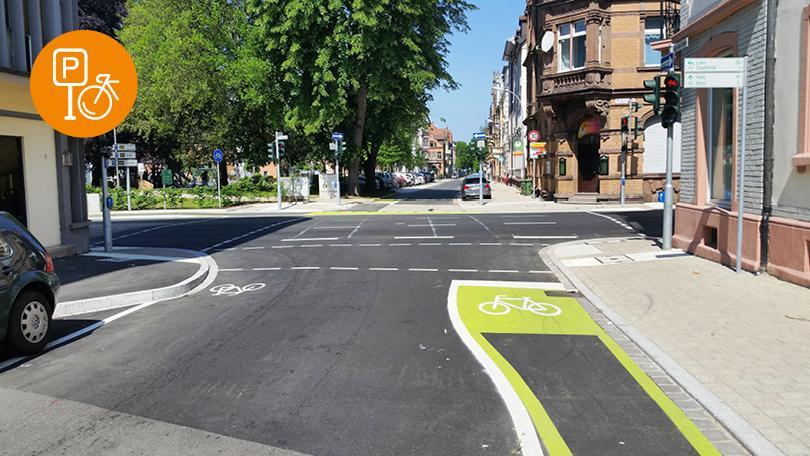 Radschutzstreifen einheitlich in Mobilitätsgrün