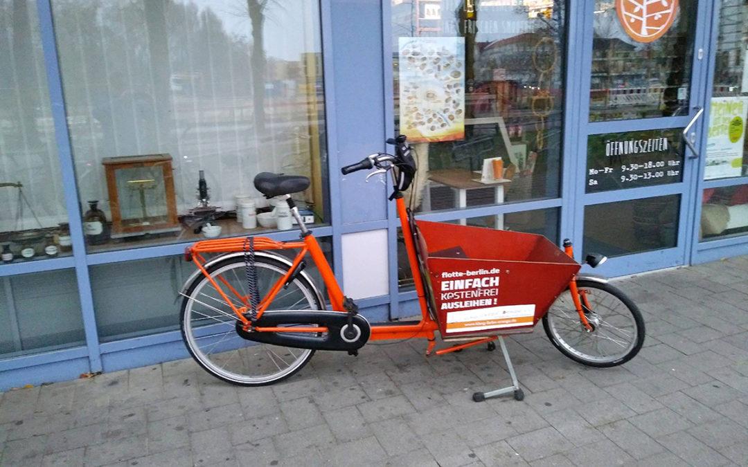 Lastenfahrrad zur Förderung des Radverkehrs in Oranienburg