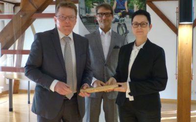 Bürgermeisterin Annett Jura übernimmt den Staffelstab