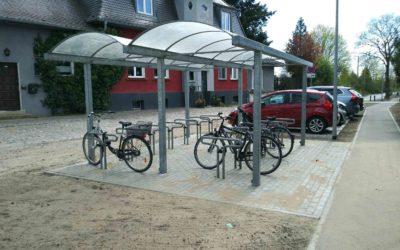 Neue Fahrradabstellanlage am Bahnhof Sachsenhausen