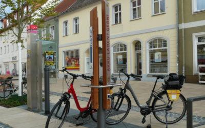 Luckenwalde – Neue E-Bike-Lademöglichkeit entsteht vor dem E-Werk